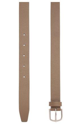 Мужской кожаный ремень GIORGIO ARMANI бежевого цвета, арт. Y2S341/YTD7E | Фото 2