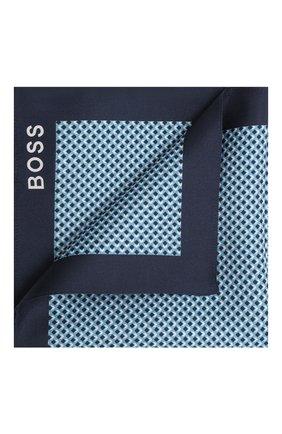 Мужской шелковый платок BOSS голубого цвета, арт. 50434750 | Фото 1