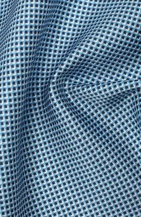 Мужской шелковый платок BOSS голубого цвета, арт. 50434750 | Фото 2