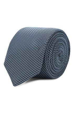 Мужской шелковый галстук BOSS синего цвета, арт. 50434875 | Фото 1