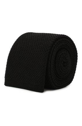 Мужской шелковый галстук BOSS темно-серого цвета, арт. 50433962 | Фото 1