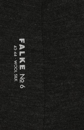 Мужские носки из смеси шерсти и шелка FALKE темно-серого цвета, арт. 14451.. | Фото 2
