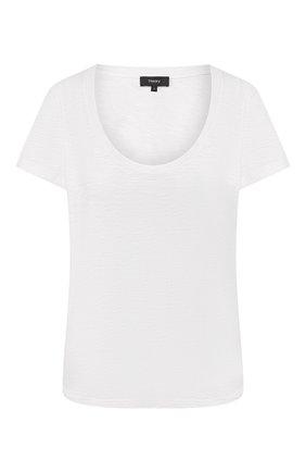 Женская хлопковая футболка THEORY белого цвета, арт. K0224512 | Фото 1