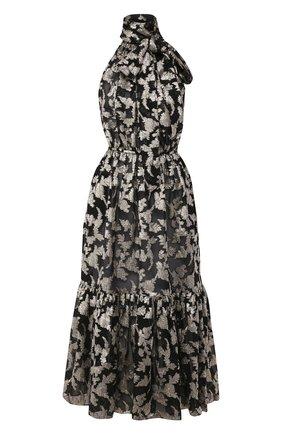 Женское шелковое платье SAINT LAURENT серебряного цвета, арт. 614663/Y927T   Фото 1