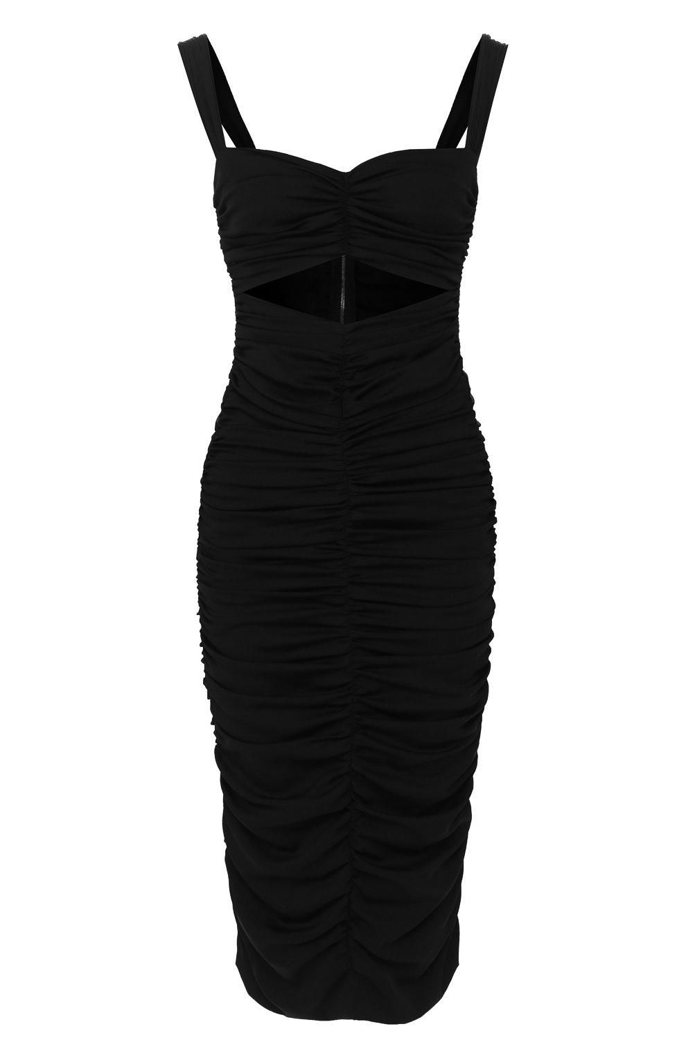 Женское шелковое платье DOLCE & GABBANA черного цвета, арт. F6I7YT/FUABF   Фото 1