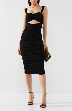 Женское шелковое платье DOLCE & GABBANA черного цвета, арт. F6I7YT/FUABF | Фото 2