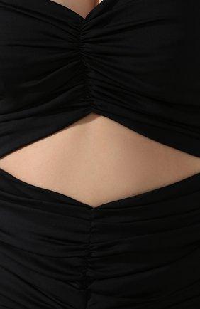 Женское шелковое платье DOLCE & GABBANA черного цвета, арт. F6I7YT/FUABF   Фото 5