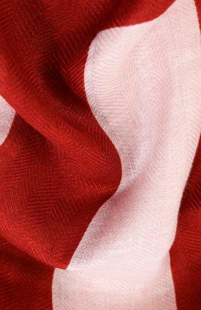 Женское льняное парео LORO PIANA красного цвета, арт. FAL1444 | Фото 2