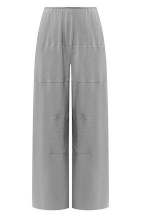 Женские шелковые брюки GIORGIO ARMANI серого цвета, арт. 0SHPP0CW/T01Q8 | Фото 1
