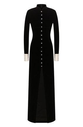 Женское платье-макси ALESSANDRA RICH черного цвета, арт. FAB2123-F2603 | Фото 1