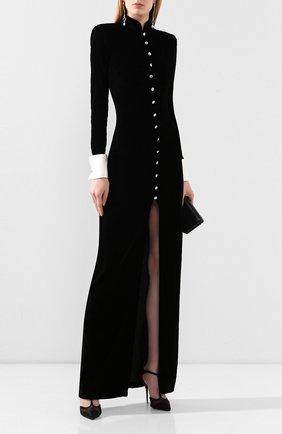 Женское платье-макси ALESSANDRA RICH черного цвета, арт. FAB2123-F2603 | Фото 2