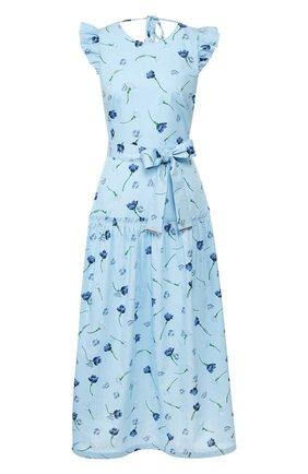 Женское хлопковое платье MARKUS LUPFER голубого цвета, арт. DR1121 | Фото 1