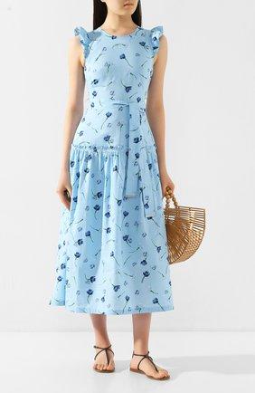 Женское хлопковое платье MARKUS LUPFER голубого цвета, арт. DR1121 | Фото 2