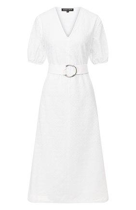 Женское хлопковое платье MARKUS LUPFER белого цвета, арт. DR1118 | Фото 1