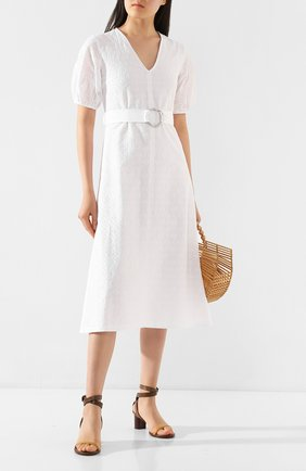 Женское хлопковое платье MARKUS LUPFER белого цвета, арт. DR1118 | Фото 2