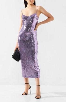 Женское платье с пайетками GALVAN LONDON фиолетового цвета, арт. 120SGDR003608 | Фото 2