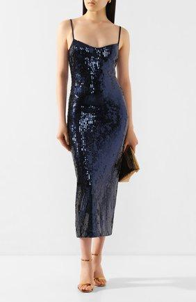 Женское платье с пайетками GALVAN LONDON темно-синего цвета, арт. 120SGDR003605 | Фото 2