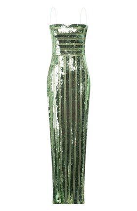 Женское платье-макси GALVAN LONDON зеленого цвета, арт. 120SEDR002404 | Фото 1