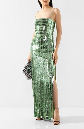 Женское платье-макси GALVAN LONDON зеленого цвета, арт. 120SEDR002404 | Фото 2