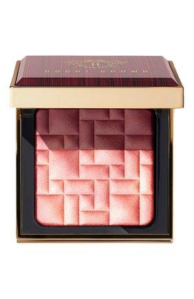 Женская компактная пудра для придания сияния, оттенок sunset glow BOBBI BROWN бесцветного цвета, арт. EN49-01 | Фото 1