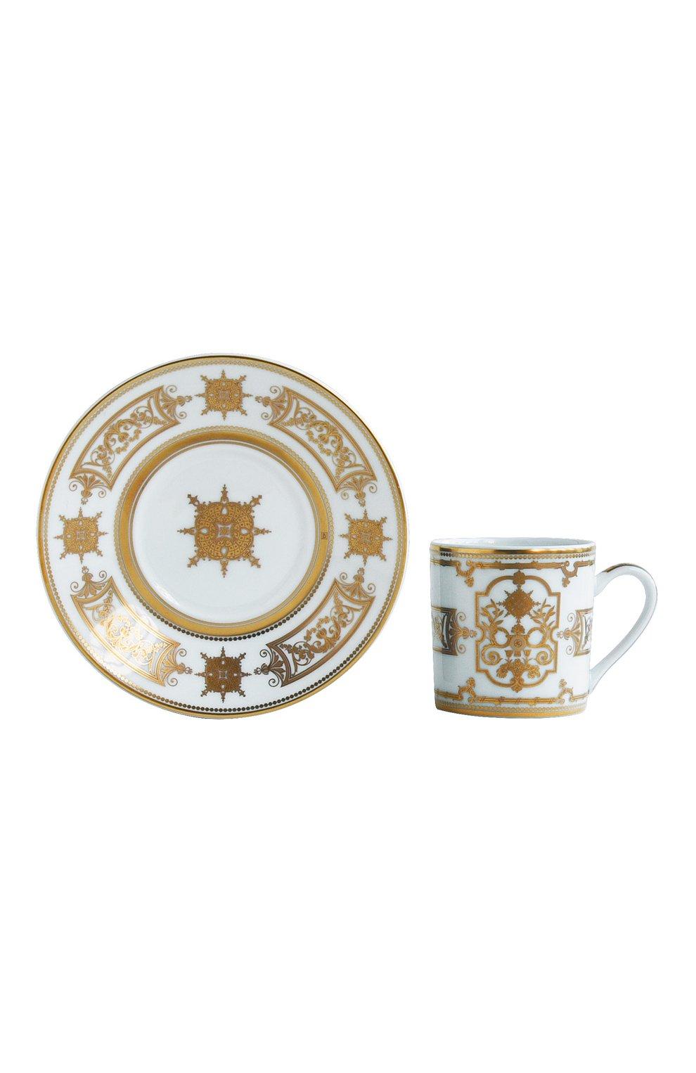 Мужская чашка кофейная с блюдцем aux rois or BERNARDAUD золотого цвета, арт. 1847/79   Фото 1