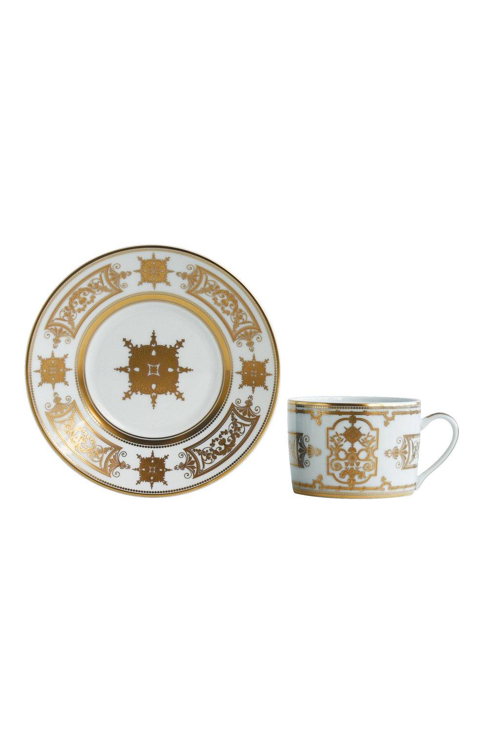 Мужского чашка чайная с блюдцем aux rois or BERNARDAUD золотого цвета, арт. 1847/91 | Фото 1