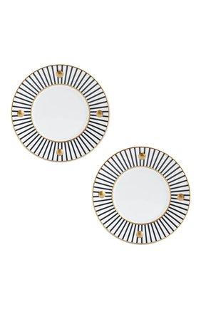 Мужского набор из 2-х тарелок delphos antracite BERNARDAUD темно-серого цвета, арт. 1775/22966   Фото 1