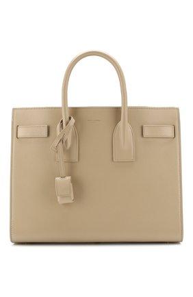 Женская сумка sac de jour small SAINT LAURENT светло-бежевого цвета, арт. 378299/02G9W | Фото 1