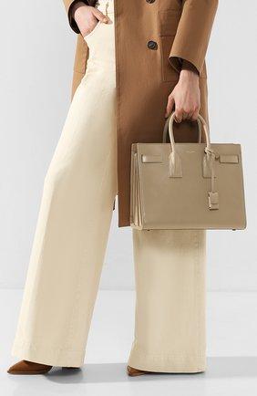 Женская сумка sac de jour small SAINT LAURENT светло-бежевого цвета, арт. 378299/02G9W | Фото 2