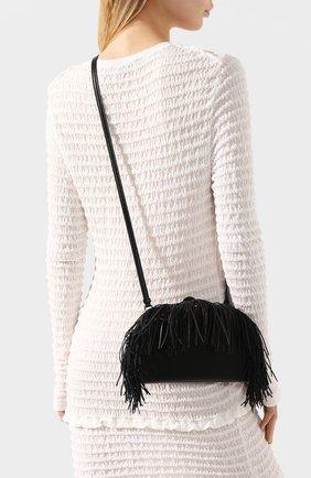 Женская сумка heel LOEWE черного цвета, арт. 126.54AC06   Фото 2