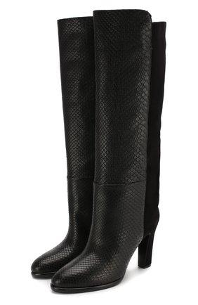 Женские сапоги из кожи питона GIVENCHY черного цвета, арт. BE7018E0N6/PBIV | Фото 1
