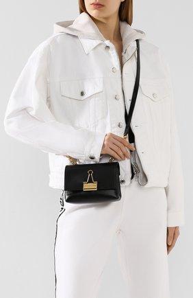 Женская сумка soft small OFF-WHITE черного цвета, арт. 0WNA121S20LEA0011000 | Фото 2