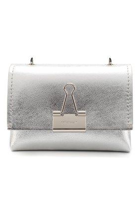 Женская сумка soft small OFF-WHITE серебряного цвета, арт. 0WNA121S20LEA0027200 | Фото 1