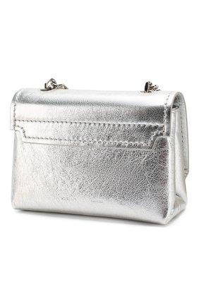 Женская сумка soft small OFF-WHITE серебряного цвета, арт. 0WNA121S20LEA0027200 | Фото 3