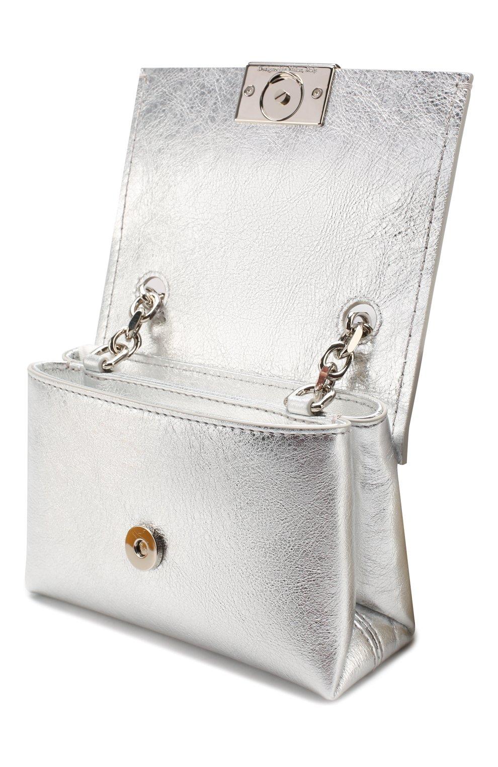 Женская сумка soft small OFF-WHITE серебряного цвета, арт. 0WNA121S20LEA0027200 | Фото 4