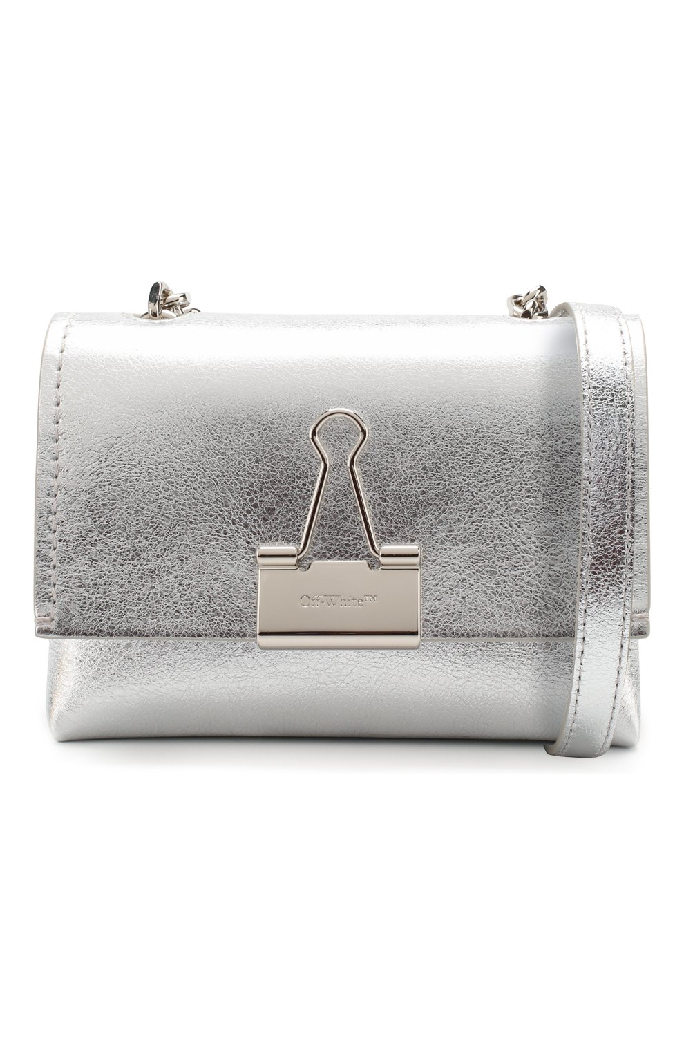 Женская сумка soft small OFF-WHITE серебряного цвета, арт. 0WNA121S20LEA0027200 | Фото 5