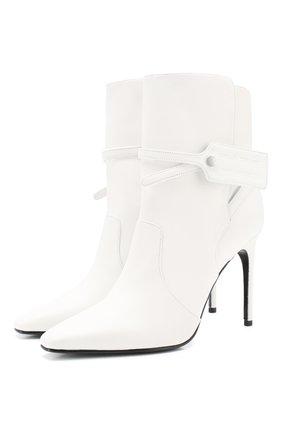 Женские кожаные ботильоны OFF-WHITE белого цвета, арт. 0WIA233S20LEA0010100 | Фото 1