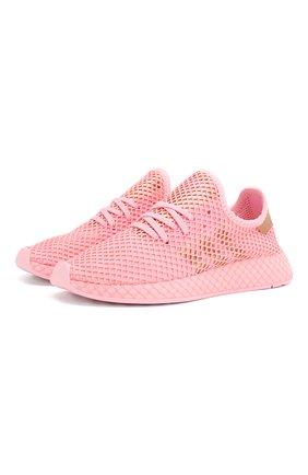 Женские текстильные кроссовки ADIDAS ORIGINALS розового цвета, арт. EF5386 | Фото 1
