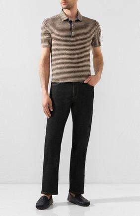 Мужские кожаные мокасины BOTTEGA VENETA темно-синего цвета, арт. 608763/VBPU1 | Фото 2