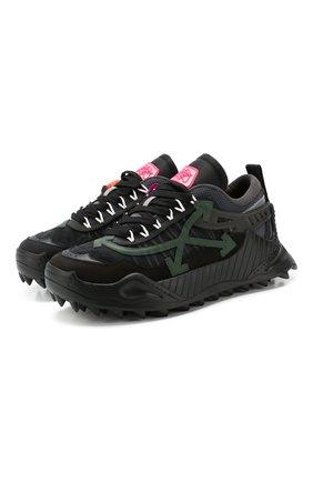 Мужские комбинированные кроссовки odsy-1000 OFF-WHITE серого цвета, арт. 0MIA139T20FAB0010840 | Фото 1