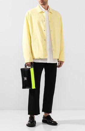 Мужская кожаная сумка ACNE STUDIOS черного цвета, арт. B10009/M | Фото 2