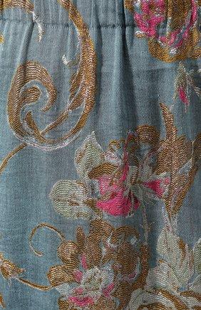 Женская юбка из смеси хлопка и льна DRIES VAN NOTEN синего цвета, арт. 201-10828-9362 | Фото 5