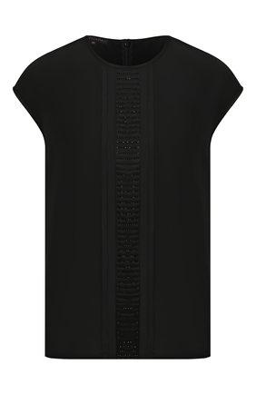 Женский шелковый топ ESCADA черного цвета, арт. 5033015 | Фото 1