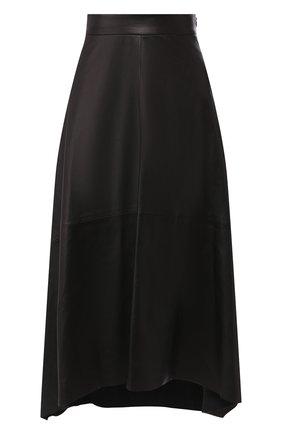 Женская кожаная юбка BRUNELLO CUCINELLI черного цвета, арт. M0TANG2911 | Фото 1