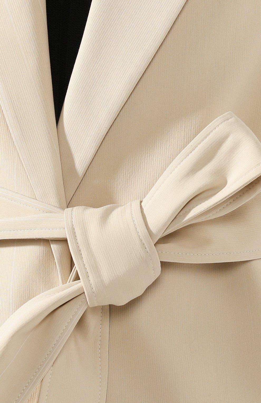 Женский жилет из смеси хлопка и вискозы OFF-WHITE бежевого цвета, арт. 0WEF046S20FAB0016100 | Фото 5