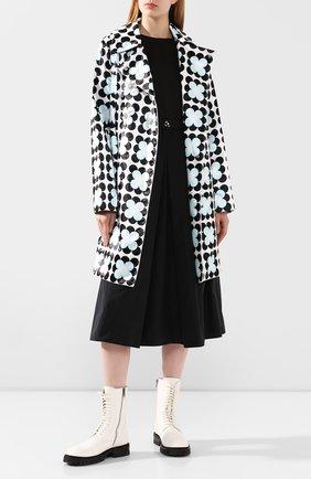 Женское пальто 0 moncler richard quinn MONCLER GENIUS черно-белого цвета, арт. F1-09F-1C705-00-54AM0   Фото 2
