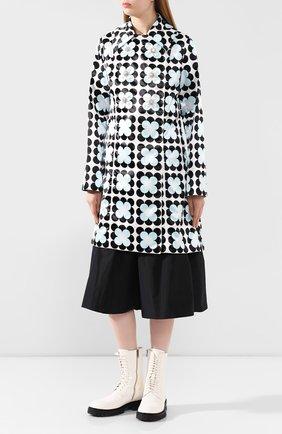 Женское пальто 0 moncler richard quinn MONCLER GENIUS черно-белого цвета, арт. F1-09F-1C705-00-54AM0   Фото 3