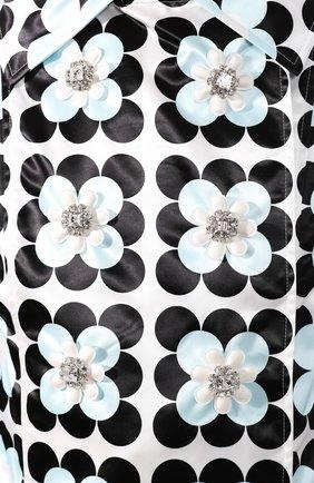 Женское пальто 0 moncler richard quinn MONCLER GENIUS черно-белого цвета, арт. F1-09F-1C705-00-54AM0   Фото 5