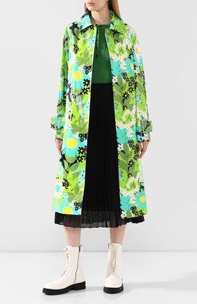 Женский хлопковый плащ 0 moncler richard quinn MONCLER GENIUS зеленого цвета, арт. F1-09F-1C707-00-V0129   Фото 2