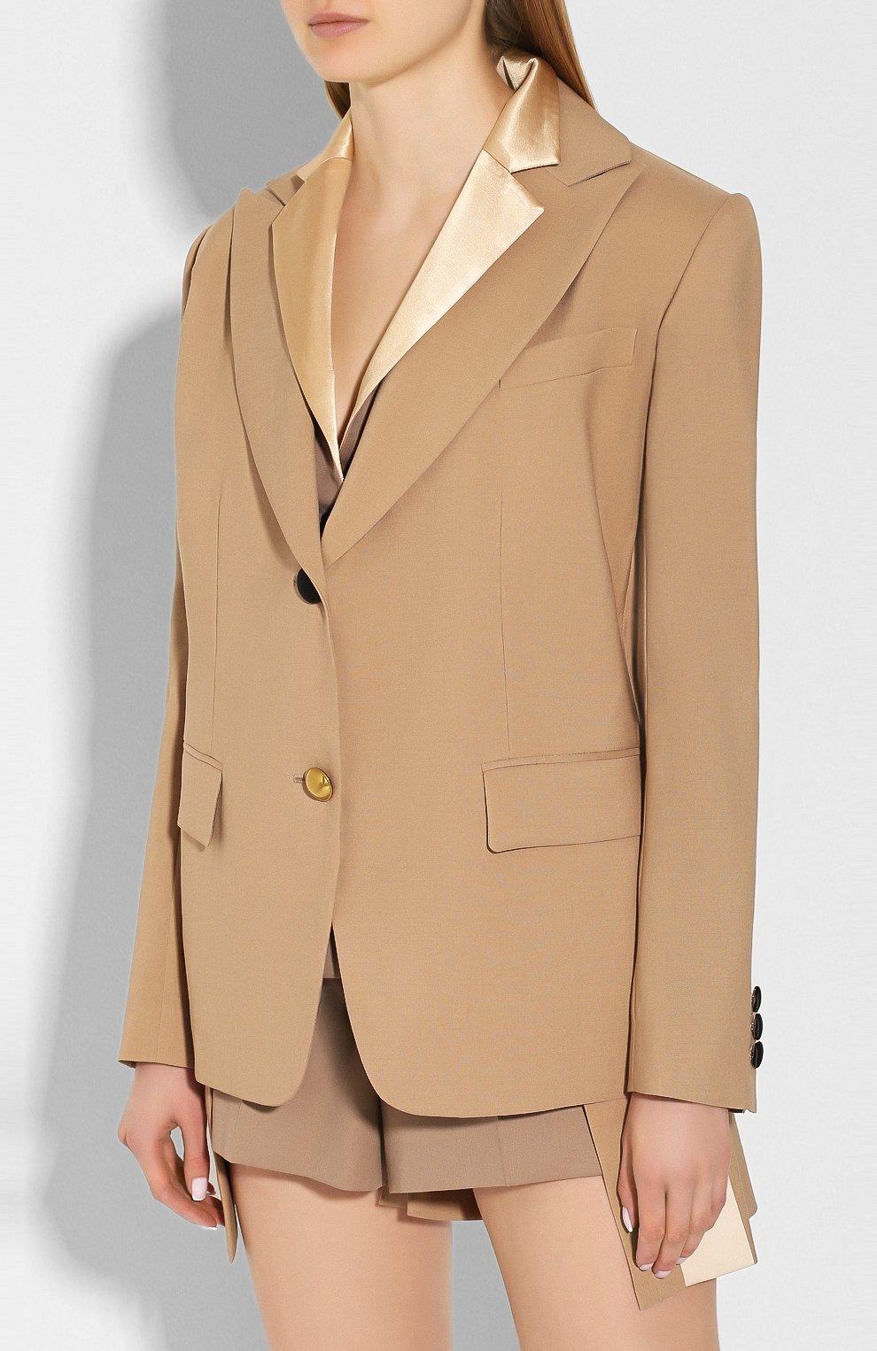 Женский жакет SACAI бежевого цвета, арт. 20-04818   Фото 3